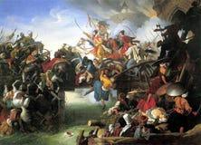 Pittura di guerra dell'ottomano fotografia stock