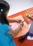 Pittura di infanzia Immagini Stock