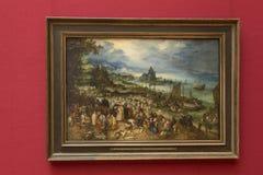 Pittura di Jan Brueghel in Alte Pinakothek a Monaco di Baviera Immagine Stock