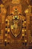 Pittura di legno di Lord Tirupathi all'ingresso dell'hotel, Kumbakonam, Tamil Nadu immagini stock libere da diritti