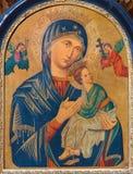 Pittura di Madonna - di Vienna dall'altare laterale della chiesa barrocco Maria Treu Fotografia Stock Libera da Diritti