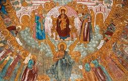 Pittura di parete della chiesa Immagine Stock