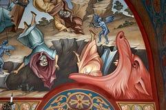 Pittura di parete della chiesa Immagine Stock Libera da Diritti