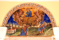 Pittura di parete della chiesa Fotografie Stock