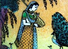 Pittura di pietra indiana del nord fotografia stock libera da diritti