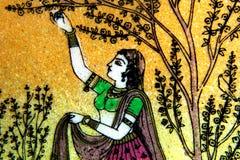 Pittura di pietra indiana del nord immagine stock libera da diritti