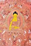 Pittura di religione nello stile tradizionale del Tibet Immagine Stock Libera da Diritti