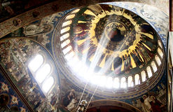 Pittura di Religiou, Horezu, Romania Immagini Stock Libere da Diritti