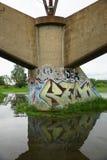 Pittura di spruzzo dei graffiti Fotografia Stock