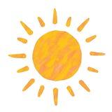 Pittura di Sun Fotografie Stock Libere da Diritti