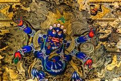 Pittura di Thangka del tibetano: La fusione di un'arte e di una cultura fotografia stock libera da diritti