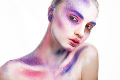 Pittura di trucco Fotografia Stock