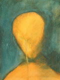 Pittura di un fronte Immagini Stock