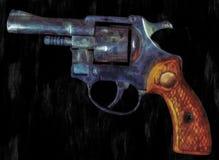 Pittura di un revolver Fotografie Stock Libere da Diritti