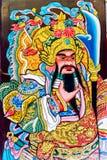 Pittura di vecchio stile del cinese Dio, Chinatown Bangkok Tailandia Fotografia Stock Libera da Diritti