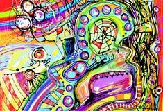Pittura digitale originale dell'astrazione illustrazione vettoriale
