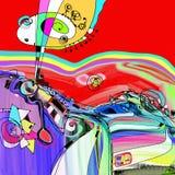 Pittura digitale originale della composizione dell'astrazione, potete noi royalty illustrazione gratis