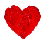 Pittura disegnata a mano dell'acquerello dell'illustrazione del cuore dell'acquerello Immagine Stock