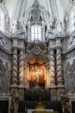 Pittura e canne d'organo del pezzo dell'altare Fotografie Stock