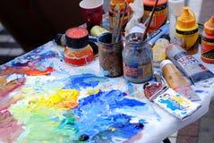 Pittura e colori Fotografie Stock Libere da Diritti