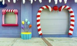 Pittura e decorazione di arte della parete Fotografia Stock Libera da Diritti
