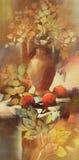 Pittura fatta a mano di natura morta Fotografie Stock