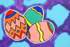 Pittura felice di Pasqua Immagine Stock Libera da Diritti