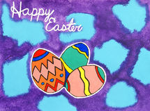 Pittura felice di Pasqua Fotografia Stock Libera da Diritti