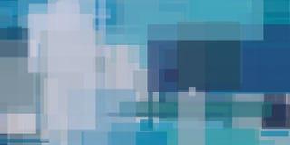 Pittura geometrica astratta blu Fotografia Stock