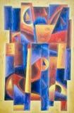 Pittura geometrica 1 di arte di Digital illustrazione di stock