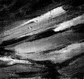 Pittura grigia astratta dall'olio su una tela Immagine Stock Libera da Diritti