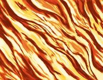 Pittura/illustrazione astratte di un fuoco bruciante con le fiamme selvagge Fotografia Stock Libera da Diritti