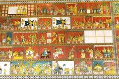 Pittura indù di concetto al tempio di Madura Meenakshi Fotografia Stock