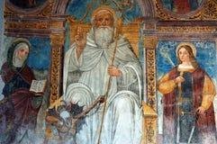 Pittura medioevale antica Fotografie Stock Libere da Diritti
