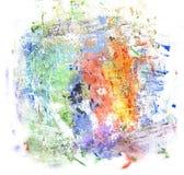 Pittura multicolore di gouache Fotografia Stock