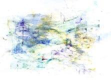 Pittura multicolore di gouache Fotografie Stock