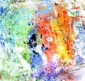 Pittura multicolore di gouache Fotografia Stock Libera da Diritti