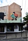 Pittura murala del fumetto a Bruxelles, Belgio Immagine Stock Libera da Diritti