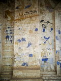 Pittura murala dell'affresco di ESARN di storia unica famosa TAILANDESE di mito Fotografia Stock