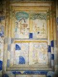 Pittura murala dell'affresco di ESARN di storia unica famosa TAILANDESE di mito Fotografie Stock