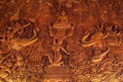 Pittura murala fatta di legno immagini stock