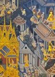 Pittura murala tailandese Fotografia Stock Libera da Diritti