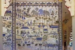 Pittura murala tailandese antica di Isan Immagine Stock