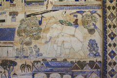 Pittura murala tailandese antica di Isan Immagine Stock Libera da Diritti