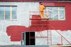 Pittura nel colore rosso Immagine Stock Libera da Diritti