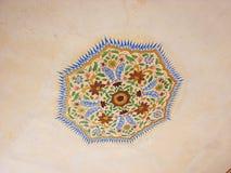 Pittura nel soffitto, Amer Fort, Jaipur, Ragiastan, India Fotografia Stock Libera da Diritti