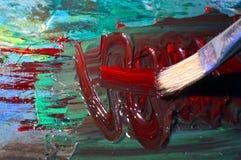 Pittura a olio Fotografie Stock