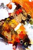 Pittura a olio - astrazione fotografia stock