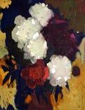 Pittura a olio dei fiori Fotografie Stock Libere da Diritti