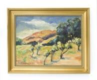 Pittura a olio del paesaggio Fotografie Stock Libere da Diritti